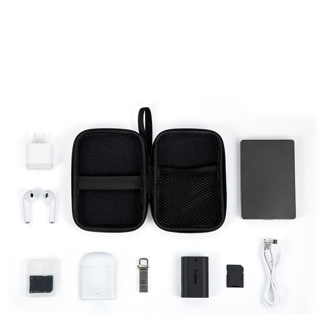 Portable USB Cable Storage Organizer Bag Waterproof Shockproof Pouch For Earphones Power Bank External Portable Protection Bag 4
