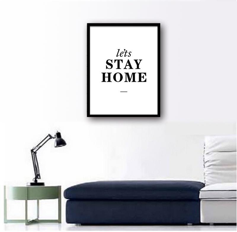 ผนังคำคม Stay Home - การตกแต่งบ้าน
