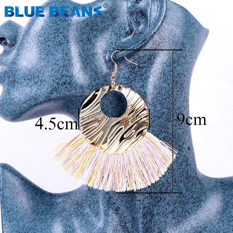 Hf2bf58e19cd94346a9176aeb8eea4d1eW - Tassel Earrings Women Punk Earings Fashion Jewelry Hanging Crystal Star Girls Earring Drop Dangle Long Boho Set  Luxury Handmade