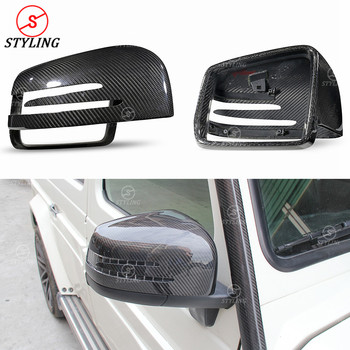 G63 W463 Dry Carbon Mirror Cover For Mercedes GLE 43 63 AMG G Class G55 GL X166 M Class W166 Rear View Caps 2013 2014 2015 2016+