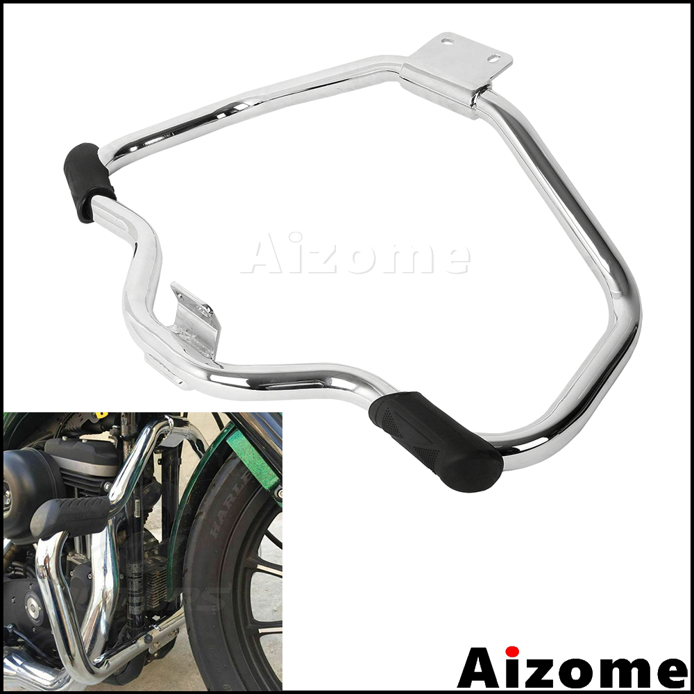 GUAIMI Mustache Front Crash Bar Engine Guard For Harley Sportster XL XR 1200 883