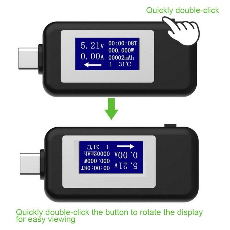 Usb tester multímetro digital atual e medidor