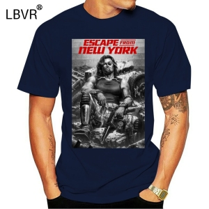 Escape From New York Kurt Russell Classic Cult Movie Fan T Shirt(1)(China)