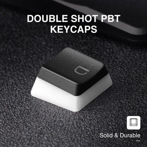 Image 3 - PBT Pudding Keycap Set Havit Keycaps Double Shot Backlit with Puller for DIY Cherry MX Mechanical Keyboard, Black & White