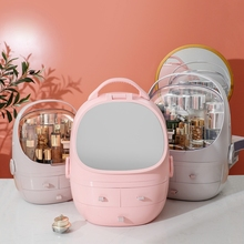 Ladies cosmetics storage box portable skin care product stor