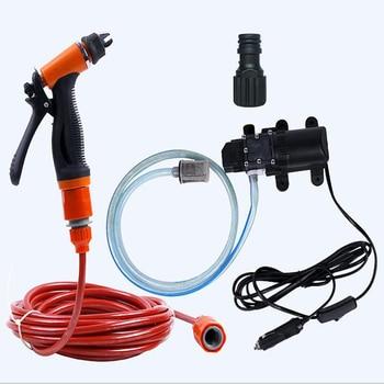 12V tragbare auto waschmaschine 70W multi-funktion selbstansaugende elektrische auto hochdruck reinigung pumpe