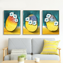 Wall Art Canvas Painting Yellow Blue Stone Abstract Home Decor Nordic Flower Cute Picture Print Painting for Living Room painting canvas wall decor art picture canvas print painting abstract pattern blue yellow for living room home decor no frame