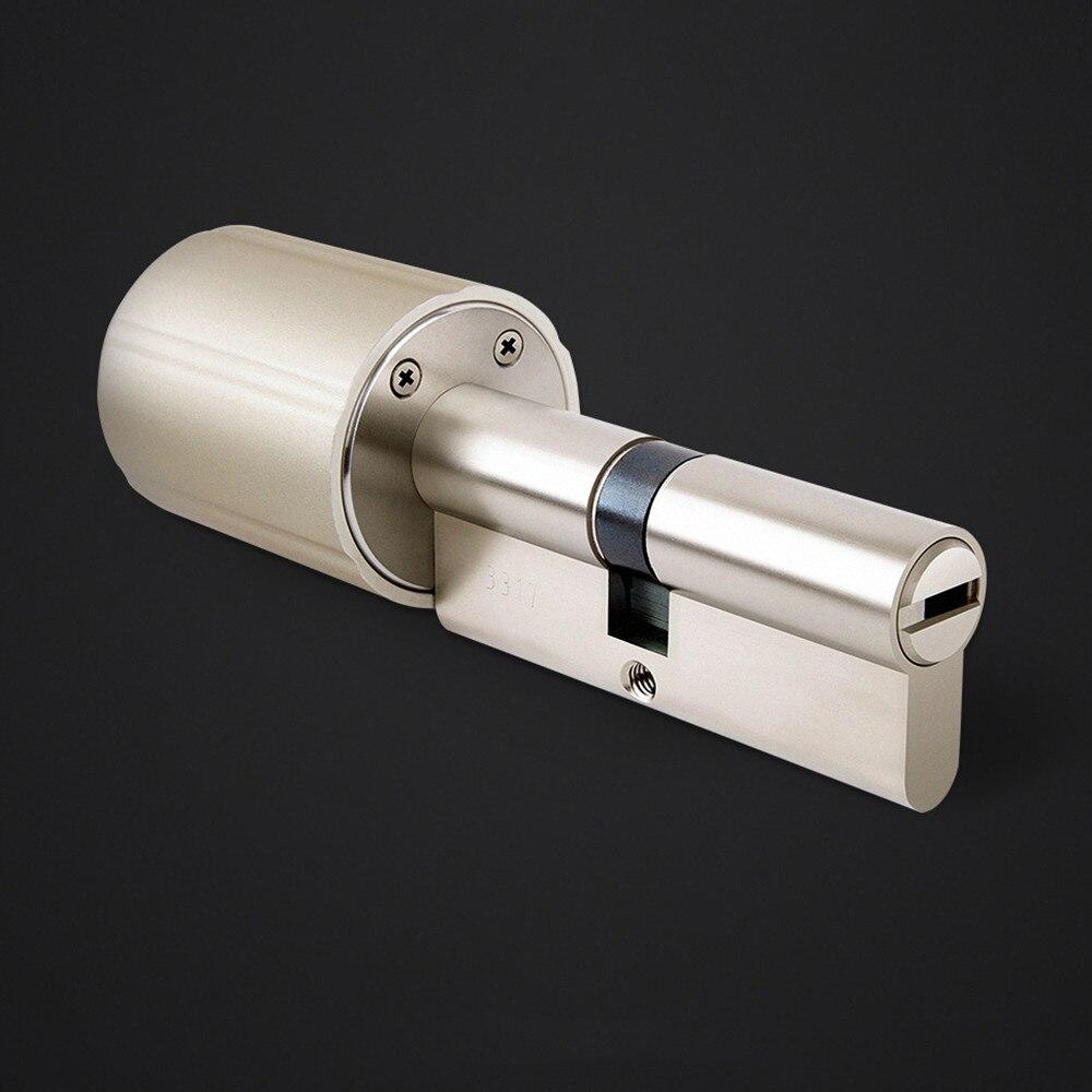 Cylindre de verrouillage Intelligent pratique antivol serrure de porte de sécurité 128 bits cryptage avec 5 clés Tuya APP Version de mise à niveau
