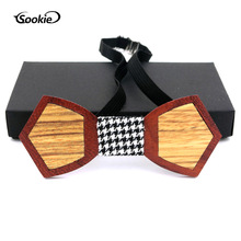 Wooden Tie Solid Wood Handmade Wood Bowtie Bow Tie Europe And America Casual for Both Men And Women Wedding Wooden Bow Tie premium handmade wooden bow tie for men