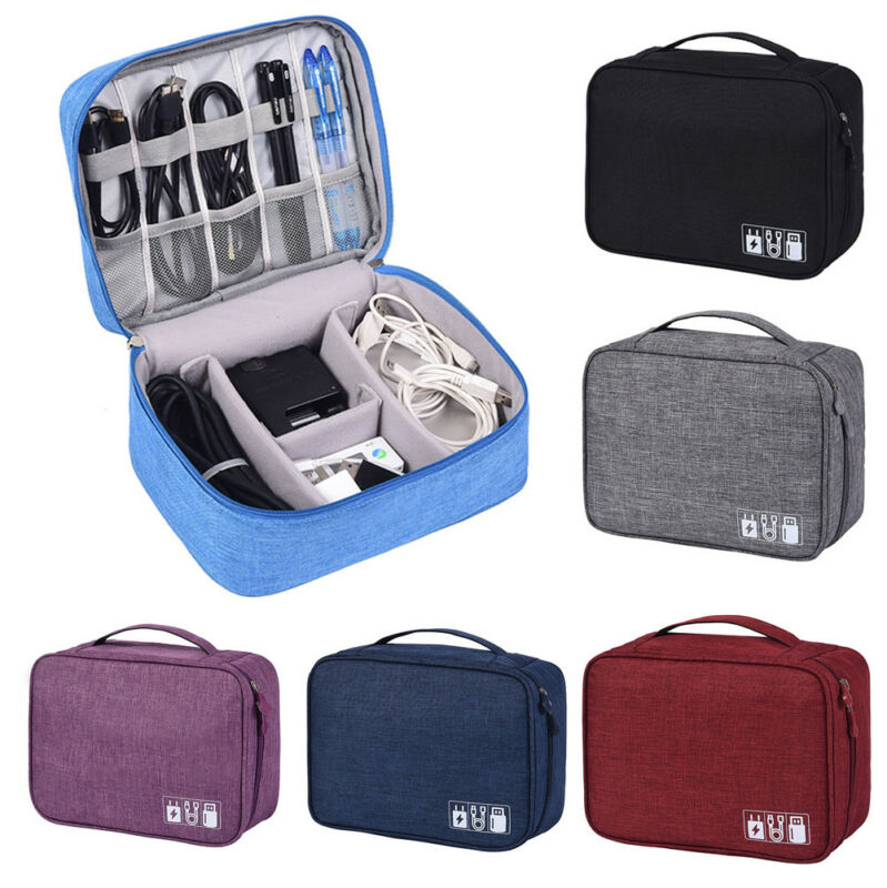 Electronics Accessories Organizer Travel Bag Storage Cable USB Drive Gadget Case Storage Bags 6 Colors