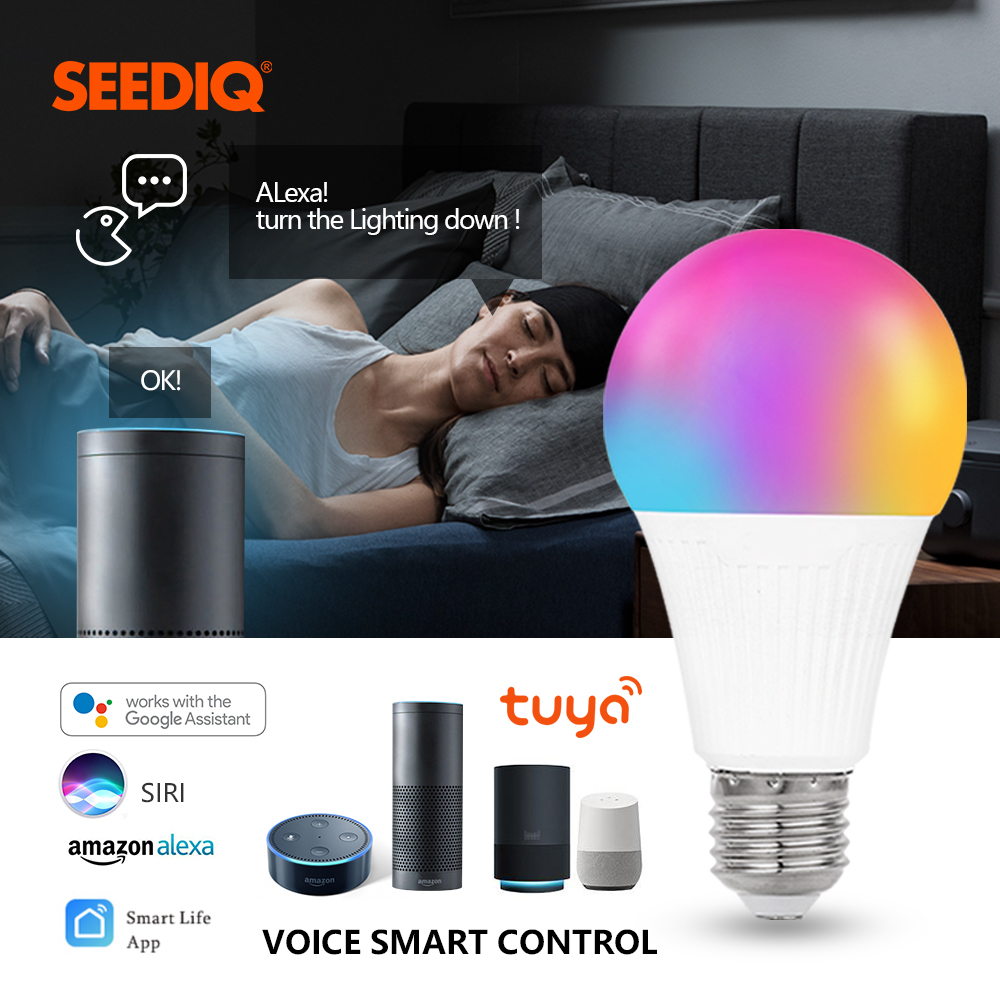 Led Smart Bulb E27 9w 7W Dimmable WiFi Lamp Magic RGB + W + WW Change Color Light Bulb AC85-265V Led Bulb RGB Lampada Home Light