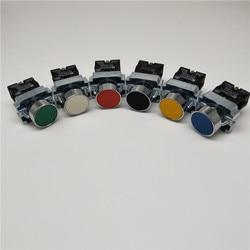 Momentary Push button switch 22mm 10A 240V~3A Circular small size Flat round Panel NC/NO XB2-BA31 XB2-BA42 ZB2-BE101C 102C