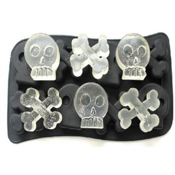 Multi-Slots Silicone Ice Cube Tray Molds DIY Desert Cocktail Juice Cooling Tool Ice Maker Mould 3D Skull Mold Kitchen Barware image