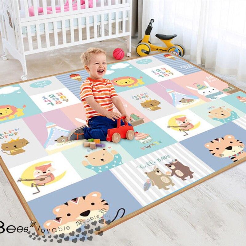 XPE экологически чистый толстый детский игровой коврик для ползания складной коврик игровой коврик для безопасности детей Детский ковер игр...