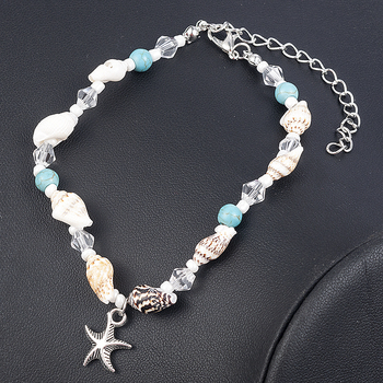 2019 New Simple Boho Women Bead Shell Anklet Ankle Bracelet Barefoot Sandal Beach Foot Jewelry tobilleras pulsera para tobillo 1