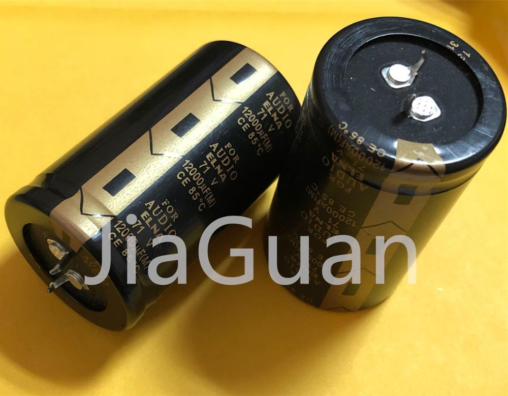 2PCS NEW ELNA FOR AUDIO 71V12000UF 35x60MM AUDIO 12000UF 71V Audio Capacitor 12000UF71V Filter Electrolytic Capacitor