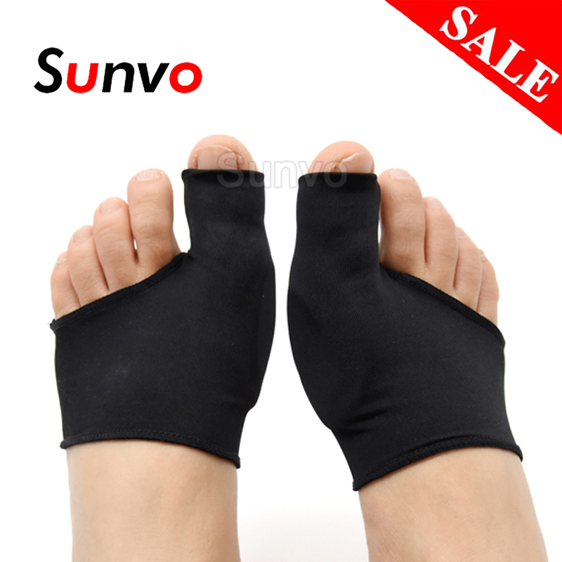 Sunvo Silicone Gel Hallux Valgus Care Pads For Bunion Orthopedic Sock Toe Separator Correction Foot Pain Relieve Sleeve Inserts
