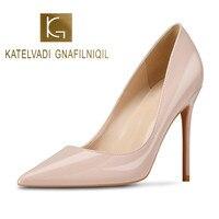 Brand Shoes Woman High Heels Ladies Shoes 10CM Heels Pumps Women Shoes High Heels Sexy Black Beige Wedding Shoes Stiletto B 0043