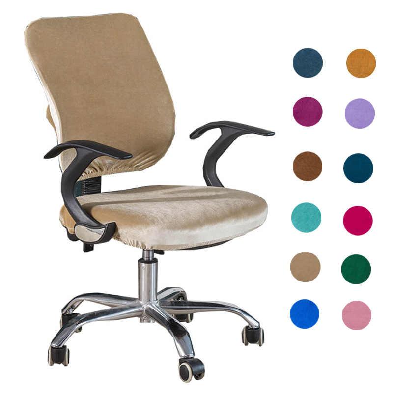 Pink velvet task chair