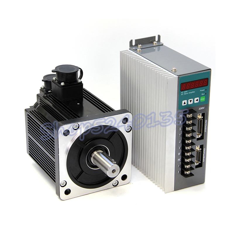 130ST-M06015 220V AC 0.95KW Servo motor AC drive set 950w 6N.M high speed 1500 <font><b>rpm</b></font> with 3m cable for CNC router engraving image