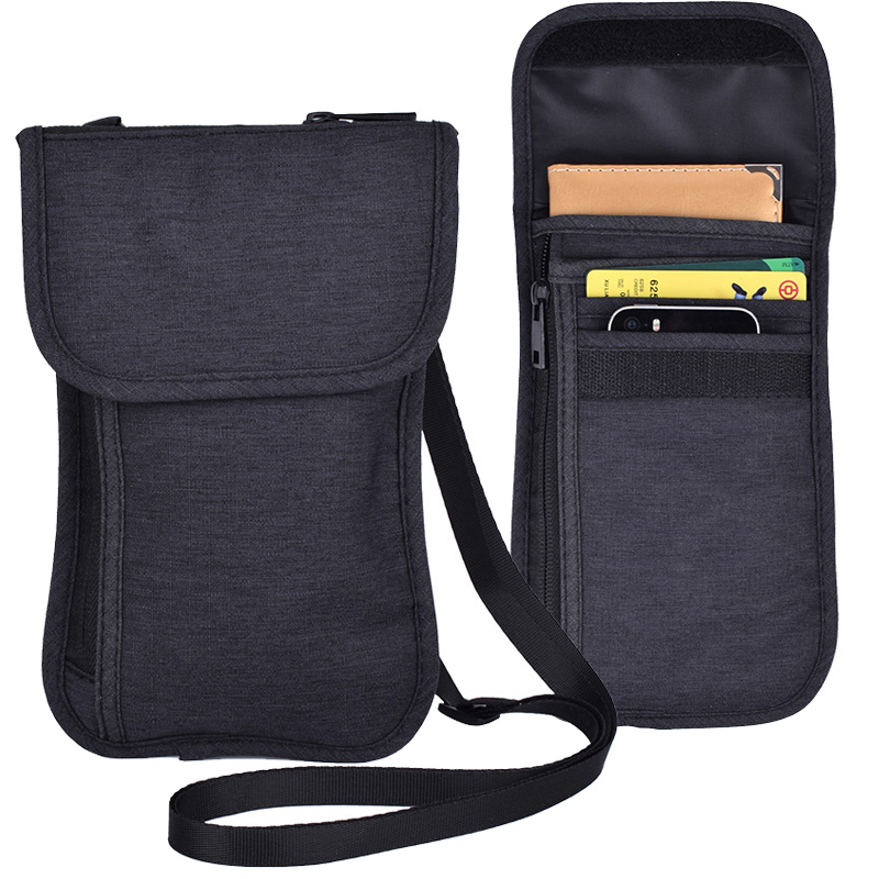 2 pieces per set Travel Pouch Pocket for Passport Cards Phone Document Money Keeper