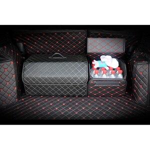 Image 5 - Car Trunk Organizer Box Storage Bag Auto Trash Tool Bag PU Leather Folding Large Cargo Storage Stowing Tidying Car Accessories