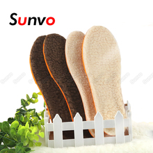Heated-Insoles Foot-Pad Imitation-Wool Warm Sunvo Winter for Shoes Thickened Artificial-Cashmere