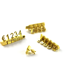 10pcs Same Adjustable Number Price Display Counter Stand Tag Label For Jewelry Phone Retail Shop Combined Numberal Cube Sign