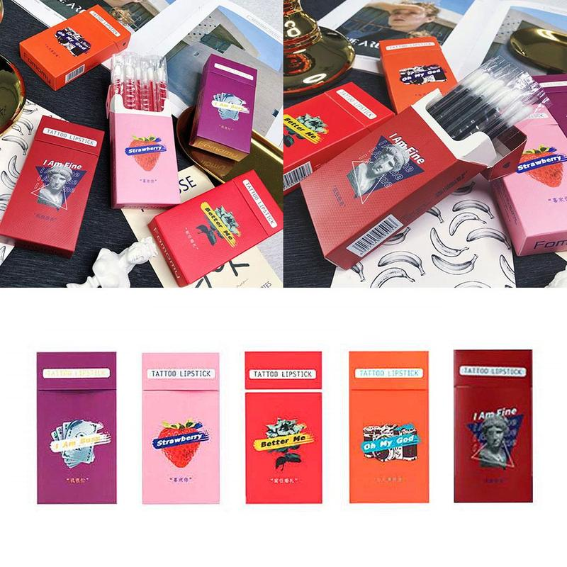 20pcs/bag Cotton Stick Lipstick Cigarette Case Swab Disposable Eyelash Brushes Swab Microbrush Long Lasting Waterproof