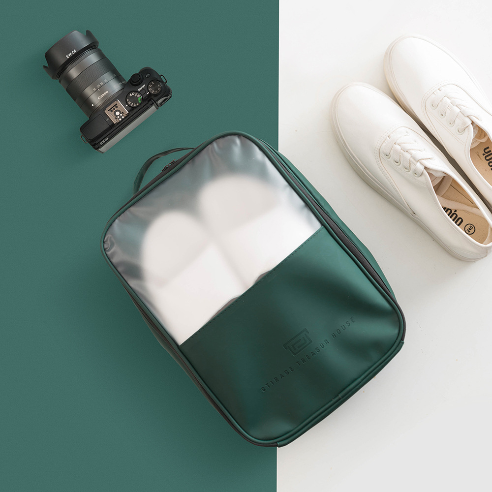 Portable Organizer Bags For 3 Pairs Shoes Convenient Travel Storage Bag With Top-handle Sorting Pouch Suitable For Suitcase