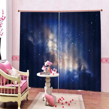 3D Digital print Star Blackout Curtains for Children's room Window Curtains Custom any size