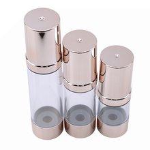 1 adet 15/30/50 Ml boş havasız kozmetik boş şişe pompa plastik işleme uygun seyahat şişesi havasız vakum sıcak satış