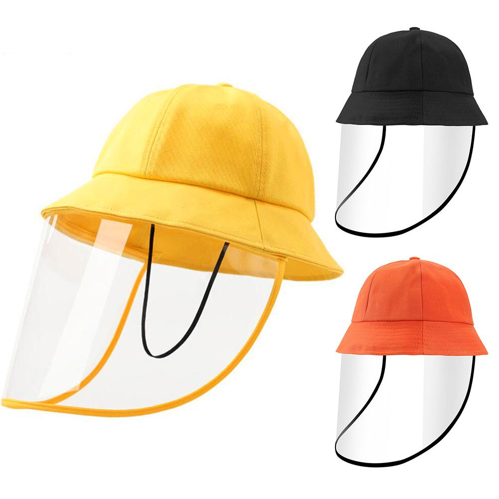 Kids Anti Sun Dust Proof Removable Face Shield Protective Cap Anti Droplet Full Face Protective Cover Mask Fisherman Hat
