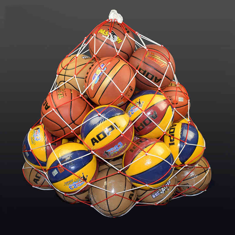 Basketball Soccer Carry Bag Large Ball Pocket Outdoor Sports Portable Rope Equipment Football Balls Volleyball Ball Mesh Bag