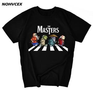 Image 1 - Dragon topu usta Roshi, Yoda, eski ustaları Dohko ve zindan parodi erkek t shirt