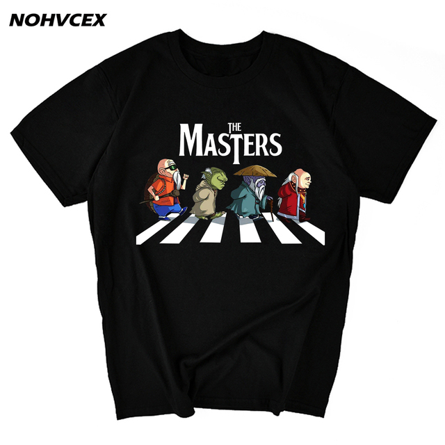 Dragon topu usta Roshi, Yoda, eski ustaları Dohko ve zindan parodi erkek t shirt