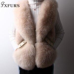 Image 5 - Gilet de fourrure de renard véritable, Design court, Gilets chauds à la mode avec Rivet en cuir, nouveauté 2020
