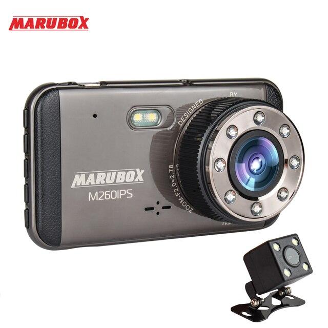 MARUBOX M260IPS รถ DVR กล้อง Dash Full HD 1920x1080 Dual Lens Dashcam พร้อมกระจกมองหลังกล้องสำหรับบันทึกภาพ video Registrator