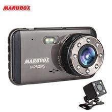 Marubox M260IPS DVR Xe Ô Tô Dash Camera Siêu Nét Full HD 1920X1080 Ống Kính Kép Dashcam Với Camera Chiếu Hậu Cho Xe Ô Tô Ghi Âm video Registrator