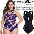 Женский купальник пуш-ап  Цельный купальник размера плюс для женщин  купальные костюмы для плавания  большие размеры  черная пляжная одежда