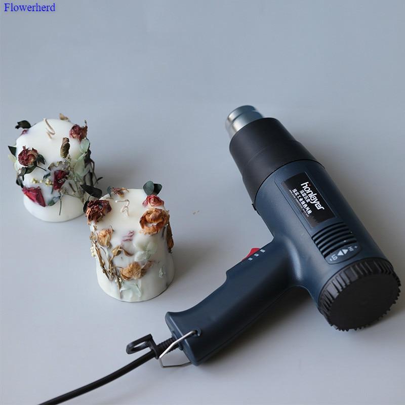 Industrie Grade Wachs Bläst Heiße Luft Gun Trockenen Blume Aroma Kerze DIY Werkzeuge Kerze, Der Kit Kerzen Lieferungen Machen