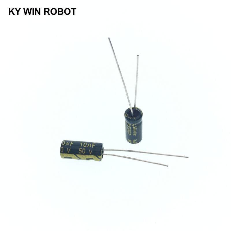 Image 3 - 50 pcs/lot 10UF 50V 10mf 105C 5X11mm condensateur électrolytique en aluminium 50V10UF 50pcs de plomb radialelectrolytic capacitorsaluminum electrolytic capacitor10uf 50v -