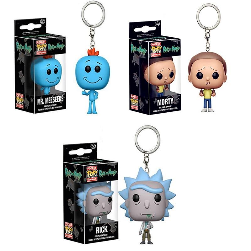 Keychain Rick and Morty Mr Viny... Meeseeks Keychain Pocket Pop Funko Pop