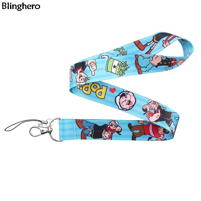 Blinghero Cartoon Lanyard For Keys Phone Cool Strap Lanyard ID Badge Holder Accessories Fashion Gifts For Family ZC0223