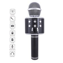 Bluetooth Karaoke Microphone Wireless Microphone Professiona Speaker Handheld Microfone Player Singing Recorder Mic led lights wireless microphone professional karaoke bluetooth microphone studio player singing recorder handheld microfone mic 1