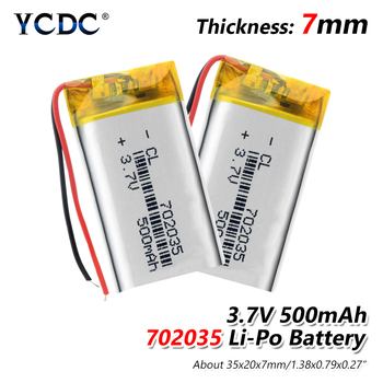 1/2/4 Pieces 702035 500mAh Li-po Battery Rechargeable 3.7v Lithium Li-ion Battery Durable MP3 MP4 Speaker GPS Bateria Replace image