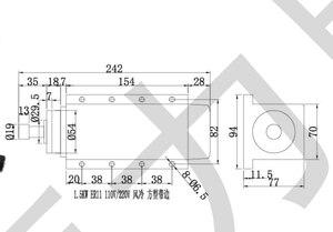 Image 5 - Livraison gratuite 1.5kw refroidi par air CNC moteur de broche + 110V/220V /380v HY onduleur + 1 ensemble ER11 pince pour CNC