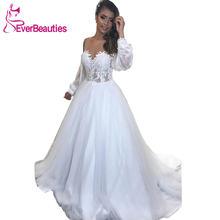 Свадебное платье с длинными рукавами 2020 robe de mariee Пляжное