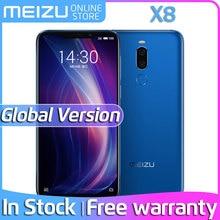 Глобальная версия Meizu X8, 4G, 64G, 6 ГБ, 128G, 4G, LTE мобильный телефон Snapdragon 710, четыре ядра, 6,15 дюйма, двойная задняя камера, разблокировка отпечатков пальцев