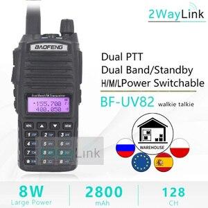 BaoFeng UV-82 Walkie-Talkie 5W 8W U/V Baofeng UV 82 Headset Walkie Talkie 10 KM Baofeng UV82 8 Watt Radios uv 9r ham radio 10 KM